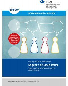 So geht´s mit Ideen-Treffen (DGUV-Information 206-007)