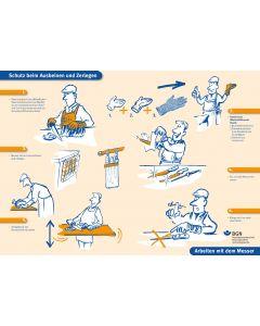 Schutz beim Ausbeinen und Zerlegen / Arbeiten mit dem Messer