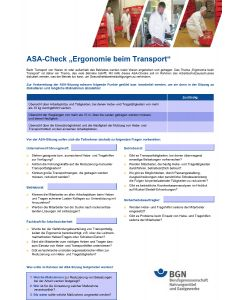 ASA-Check Ergonomie
