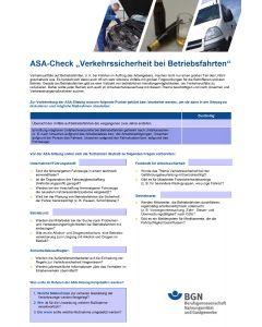 ASA-Check Betriebsfahrt