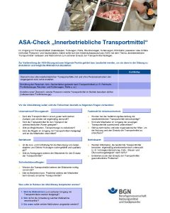 ASA-Check Innerbetrieblicher Transport