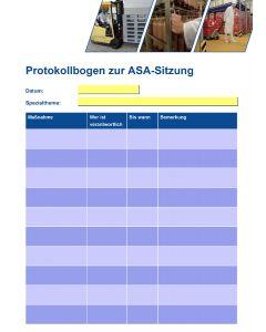 Protokollbogen zur ASA-Sitzung