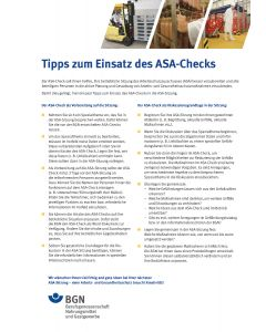 Tipps zum Einsatz des ASA-Checks