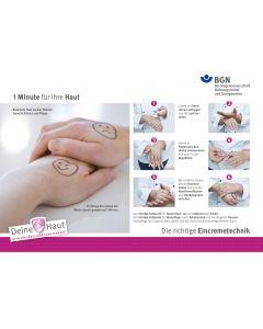 1 Minute für Ihre Haut - Die richtige Eincremetechnik