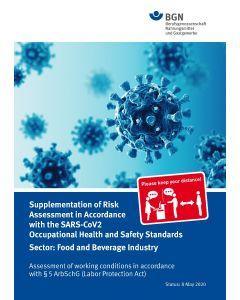 Gefährdungsbeurteilung Corona Nahrungsmittelindustrie (Broschüre) englische Ausgabe