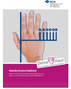 Handschuhschablone
