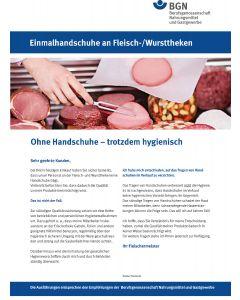 Kundeninformation: Einmalhandschuhe an Fleischtheken
