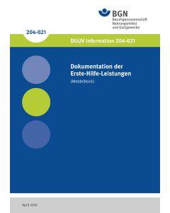 Dokumentation der Erste-Hilfe-Leistungen (Meldeblock), Verbandbuch