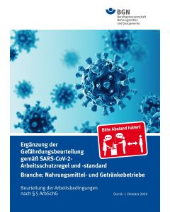 Gefährdungsbeurteilung Corona Nahrungsmittelindustrie (Broschüre)