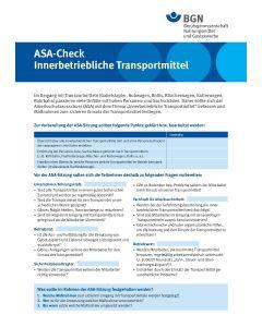 "ASA-Check ""Innerbetriebliche Transportmittel"""