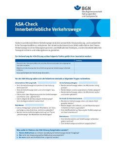 """ASA-Check """"Innerbetriebliche Verkehrswege"""""""