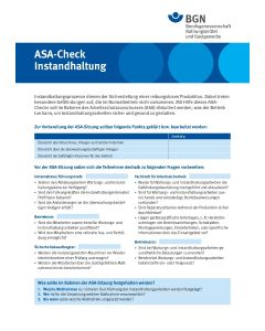 "ASA-Check ""Instandhaltung"""