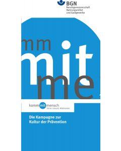 """Flyer """"kommmitmensch"""" die Kampagne zur Kultur der Prävention"""