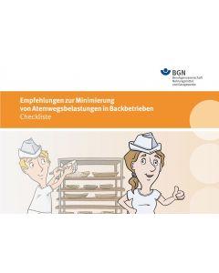 Empfehlungen zur Minimierung von Atemwegsbelastungen in Backbetrieben