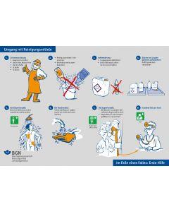 Plakat Umgang mit Reinigungsmitteln