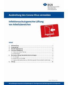 Ausbreitung des Coronavirus vermeiden: Infektionsschutzgerechte Lüftung von Arbeitsbereichen