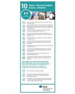 Zehn Wege Ihr Rückenschmerzrisiko zu fördern