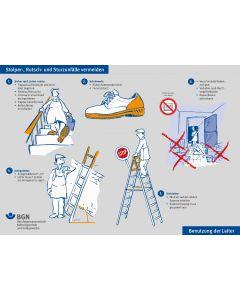 Plakat Stolper-, Rutsch- und Sturzunfälle vermeiden
