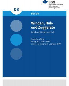 DGUV Vorschrift 54 Winden-, Hub- und Zuggeräte