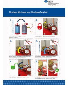 Richtiges Wechseln von Flüssiggasflaschen (Hochformat)