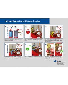 Richtiges Wechseln von Flüssiggasflaschen