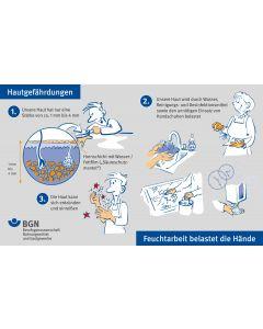 """Unterweisungskarte """"Hautgefährdungen / Hautschutz richtig anwenden"""""""