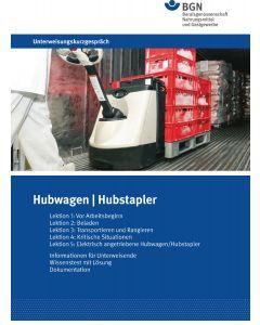 Unterweisungskurzgespräch Hubstapler / Hubwagen