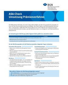 """ASA-Check """"Umsetzung Prämienverfahren"""""""