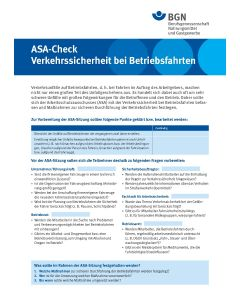 """ASA-Check """"Verkehrssicherheit bei Betriebsfahrten"""""""